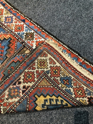 Antique Caucasian Moghan rug, Age: 19th century. Size: 170x90cm / 5'6''ft by 3ft some condition problems but still a very lovely rug