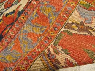 a very beautiful Gerus Bidjar rug with great colors and archaic drawing. Age: circa 1870. Size:ca.170x130cm / 5'6''x4'3''ft www.najib.de  Like us on Facebook: Najib Gallery