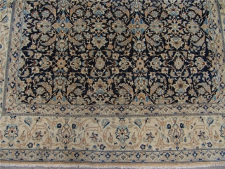 """Antique Persian Nain """"Tudeshk"""" rug.Age:ca.1930. Very fine weave. With silk highlights. Size: ca 255x160cm /  8'4'' x 5'3''"""