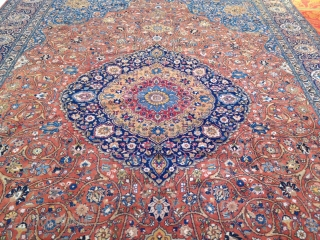 A fine and classic Persian Tabriz carpet with an elegant drawing. Oversize: 520x355cm / 17'1''ft x 10'7''ft Age: circa 1910.  See my website for more rugs: www.najib.de