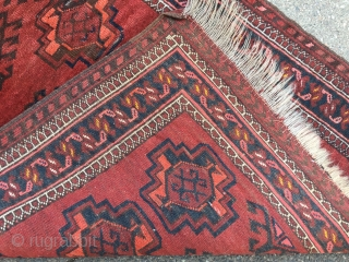 "Antique Turkmen Ersari prayer rug or so called ""Namazlik"" from North-Afghanistan. Size: ca 105x75cm / 3'4'' x 2'5''ft"
