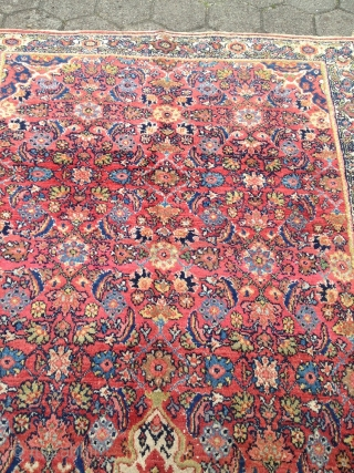 Antique Persian Malayer rug, size: 315x145cm / 10'4''ft x 4'8''ft. This rug comes out of an old German estate. www.najib.de