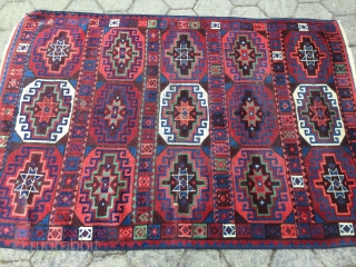 Antique Anatolian Kagizman rug with Memling Gul design, 19th century. Size: ca. 180x125cm / 6ft x 4'1''ft , one end has been rewoven (old work)