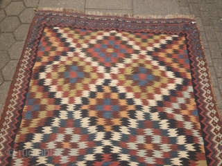 Beautiful antique Southpersian Qashqai kilim, 19th century, all natural colors. Size: 315x175cm / 10'4''ft x 5'8''ft
