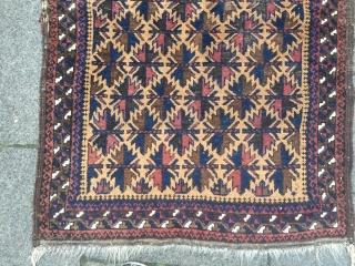 Antique camel ground Baluch prayer rug. Beautiful collector´s piece. Size : ca 130cm x 90cm / 4'3'' x 3'ft www.najib.de . Like us on Facebook: Najib Gallery