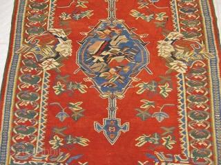 Antique Persian Bidjar kilim, size: 200x140cm / 6'6''ft x 4'6''ft www.najib.de