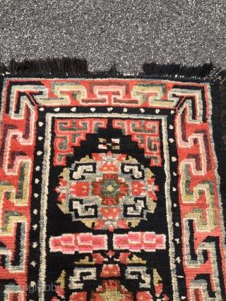 A very nice antique Tibetan Khaden, size: 140x97cm / 4'6''ft by 3'2''ft