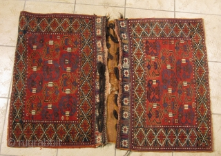 """Antique Afshar doublebag (so called """"Khorjin"""") from Southpersia. All natural colors, very nice collector´s item. www.najib.de"""