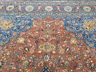 a fine Persian Tabriz carpet with an elegant drawing, fine quality. Oversize: 520x355cm / 17'1''ft x 10'7''ft Age: circa 1910, good condition. www.najib.de