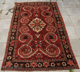 Just out of a North-German estate: Antique Persian Bakhtiary rug, circa 1920. Size: ca 220x140cm / 7'2'' x 4'6''