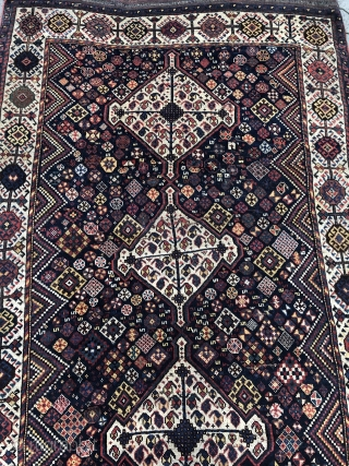 Antique Shekarlu Qashqai rug from Southwest Persia, all natural colors. Age: 19th century. Size: ca. 270x150cm / 8'9''ft x 5ft very nice collector´s piece.
