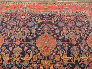 Fine antique Persian Senneh rug, very decorative. Size: ca. 435x315cm / 14'3''ft x 10'4''ft Good condition, 19th cenutury, www.najib.de