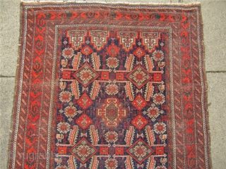Very nice antique Salar Khani Baluch rug with lots of animals. Size:  195x105cm / 6'4''x 3'5''
