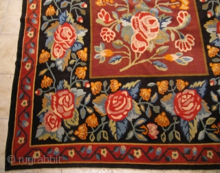 Highly decorative antique Bessarabian piled rug. Circa 1900. Good condition. Size:ca. 310x195cm / 10`2`` x 6'4''ft