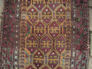 Antique Baluch Balisht. Good condition. Size: 85x47cm /2'8''x1'6''ft