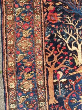Fine Bakthiary tree of life rug displaying the Garden of Eden, very elegant drawing. circa 1920. Origin: western Central-Persia. Size: 190x140cm / 6'3'' x 4'6''ft www.najib.de