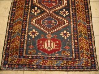 Beautiful antique Caucasian Shirvan rug. 19th century. Good overall condition. size: ca 260x140cm / 8'5'' x 4'6''