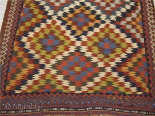 "Antique Qashqai kilim with a so called ""eye dazzler"" design. size: 315 x 175cm / 10'3''ft x 5'8''ft www.najib.de"