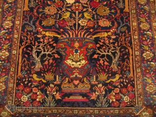 Fine Bakthiary tree of life rug with elegant drawing. circa 1920. Origin: western Central-Persia. Size: 190x140cm / 6'3'' x 4'6''ft