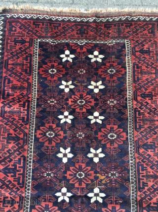 Very nice antique Mina Khani Baluch rug, size: 192x103cm / 6'3''ft x 3'4''ft www.najib.de