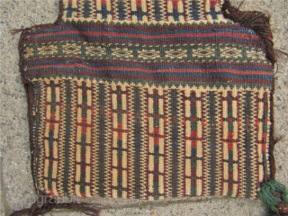Nice collector´s item: Antique doublesided Baluch saltbag or so called Namakdan. Woven in Sumakh technique.