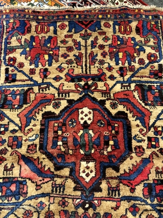 Antique Kurdish Kolyai rug (Wagireh /Sampler rug?) from West-Persia. Size: 195x125cm / 6'4''ft by 4'1''ft good condition