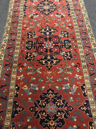 A Star Ushak copy from Transylvania/Romania woven in the workshop of Theodor Tuduc, the world's most famous rug forger Age: circa 1930. Size: 265x137cm / 8'7''ft by 4'5''ft. For more literature please  ...