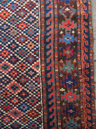 Very nice antique Kordi rug with lovely and unique design. 19th century. Size: ca 185x120cm / 6'1'' x 4'