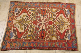 A very beautiful Bidjar rug. Age: circa 1870. Size:ca.170x130cm / 5'6''x4'3''ft