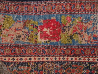 Fine antique Persian Senneh rug with a beautiful border. Size: ca.204x144cm / 6'7'' x 4'7'' Comes out of a German estate
