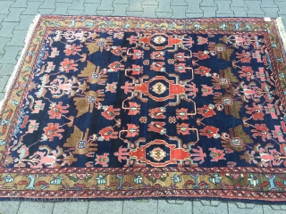 Antique Persian Hamedan rug, very nice drawing, good overall condition. Size: ca. 215x163cm / 7ft x 5'3''ft www.najib.de