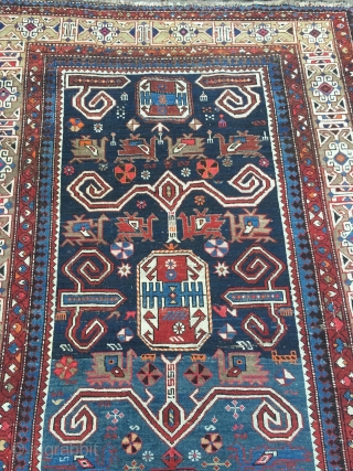 Antique Caucasian Perepedil Shirvan, size: ca. 285x145cm / 9'4''ft x 4'8''ft , some minor condition problems but still very collectable.