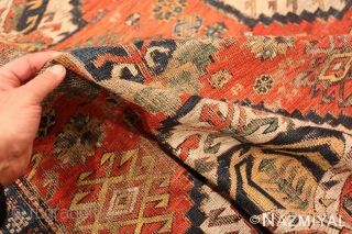 This item is part of our Oct 15th auction.Antique Shabby Chic Caucasian soumak , Circa 1860's.This auction includes antique rugs, vintage rugs, oriental rugs and tapestry collection from all major weaving countries.  ...