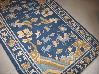 "Peking Chinese, old,how old ? nice soft handle ,some oxidation, missing a bit on ends 5' by 7'-7"" Bendas Rugs, middle of nowhere USA 314-862-4410 PRICE