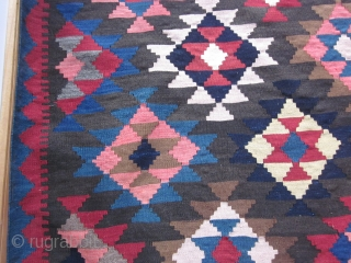 """Armenian Kilim, inscribed 1927 """"To my beloved"""", about 6 by 10 ft, excellent condition. More shots available on request."""