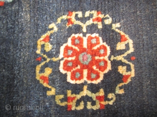 Tibetan, small floral mat, perhaps saddle top, excellent condition