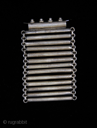 Old  silver 925 flexible amulet hand made. from Afghanistan  Size:7 cm x 5 cm  gr.50