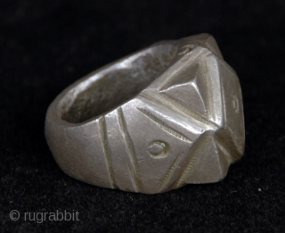 Old  silver marriage ring from Wandara (Mandara) tribe, Mora, North Cameroun  