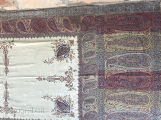 Stunning Kashmir Long Shawl - early/mid 19th c. Super fine, Incredibly good condition. If you know these shawls then you know what you are looking at.