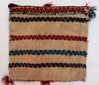 A pretty chantah or bag woven by Qashqai nomads from Southern Iran (could also be Luri?), purchased in our last trip to Iran. In mint condition, including the tassels, handles and decorative  ...