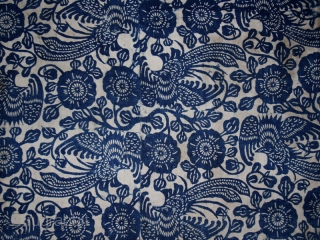 Batik fragment cod. 0539. One of the items posted on my website www.nonplusultra.cloud. Cotton, traditional dyes. Miao people. Guizhou province. South China. Late 19th. century. Very good condition. Cm. 75 x 150  ...