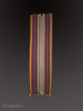 Long sofreh cod. 0412. Wool and camel hair. Early 20th. century. Persia. Dimension cm. 86 x 285.