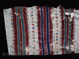 "Bag cuval cod. 0703. Bergama area ? Western Anatolia. First half 19th. century. Dimension cm. 70 x 230 (28"" x 90""). Condition as per images. Wonderful colors."