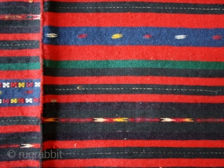 Woman's apron fragment cod. 0597. Wool and cotton. Bulgaria. 1st. half 20th. century. Good condition. Cm. 52 x 116 (20 x 46 inches).