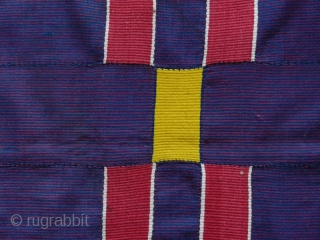 Very unusual Ewe woman's cloth cod. 0743. Handspun cotton. Ghana. Circa 1900. Some neat old patches and faint marks, overall good condition. Measurement: 240cm x 138cm (94 x 54 inches).  Distinctive C19th  ...