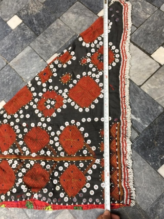 Tribal Kohistan Valley Woman headdress. The embroidery is exquisite handmade and done with silk threads.The headdress is very large , please have a look at the pictures closely for size details.