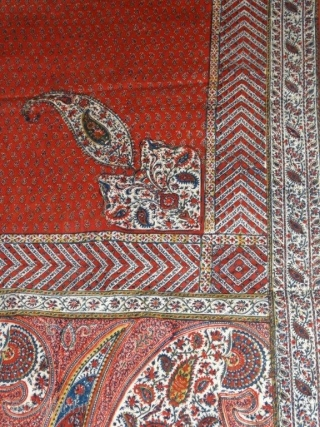 Object d crafts a beautiful Kalamkari in perfect condition 19th century. Size 94*55 inches