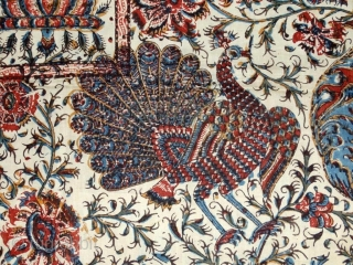 a beautiful Kalamkari in perfect condition 19th century. Size 66*45inches