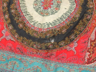 Beautiful antique kashmir Long shawl Indian 19 c Good condition Some Small Hole Size 289cm*137cm Colour is Good Fine Quality