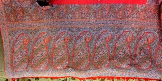 Indian Paisley shawl. size 58*118inches. Perfect condition